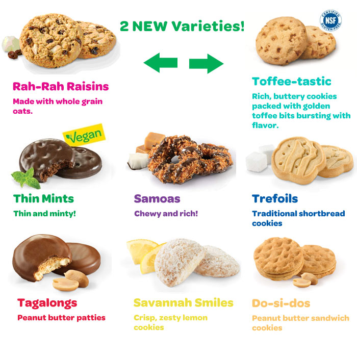 girl scout cookie time new flavors and old favorites